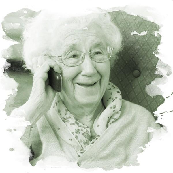Kvinna äldreboende